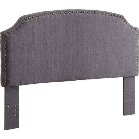 Furniture of America Nalyssa King Padded Fabric Headboard, Multiple Colors, Gray