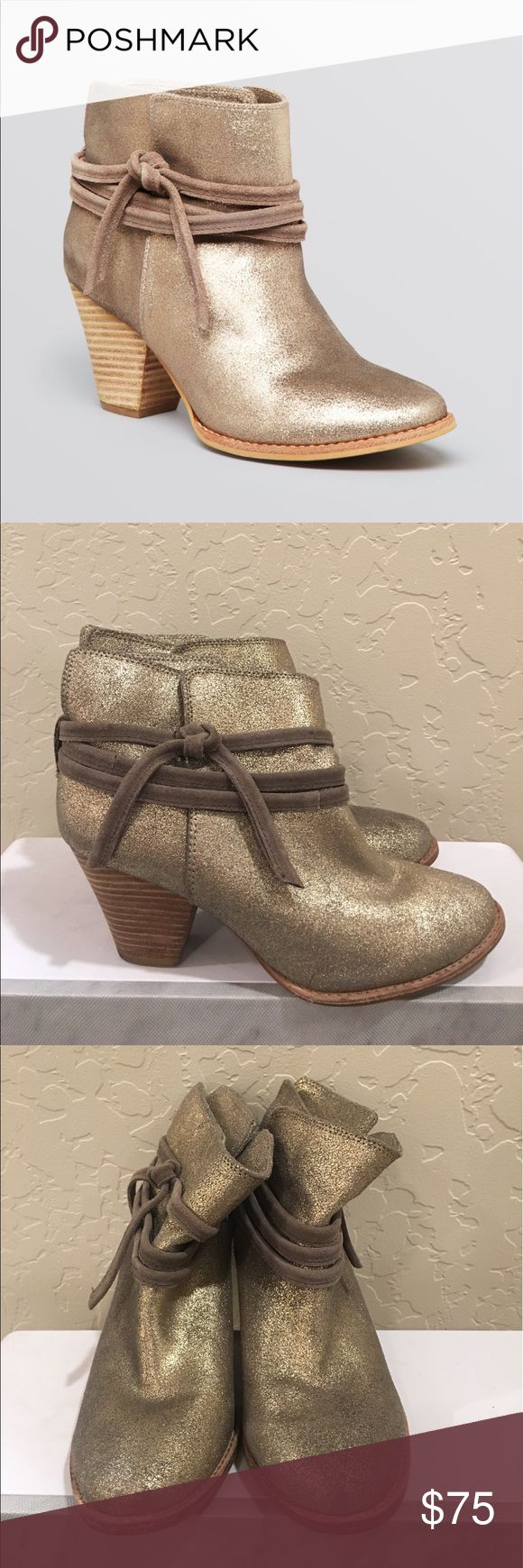 Gold Booties Splendid Gold booties || worn 2-3 times Splendid Shoes Ankle Boots & Booties