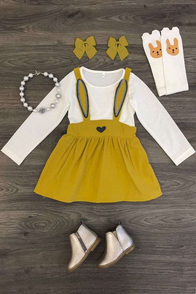 The Eleanor Easter Dress - MUSTARD