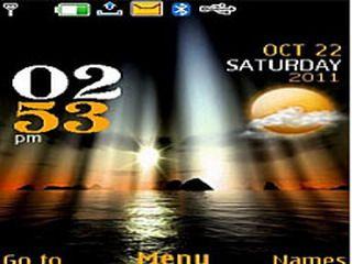 Beach Reflect theme for Nokia X2, C2-01 & 240×320