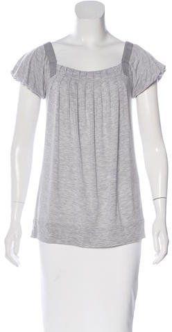 Stella McCartney for Adidas Cap Sleeve Pleated Top