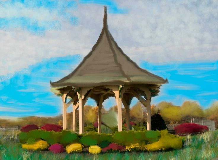 Assignment 2 - Gazebo  Much harder than I thought it would be!  Next time I would like to try again on a tablet to see if that would make it a little easier :)