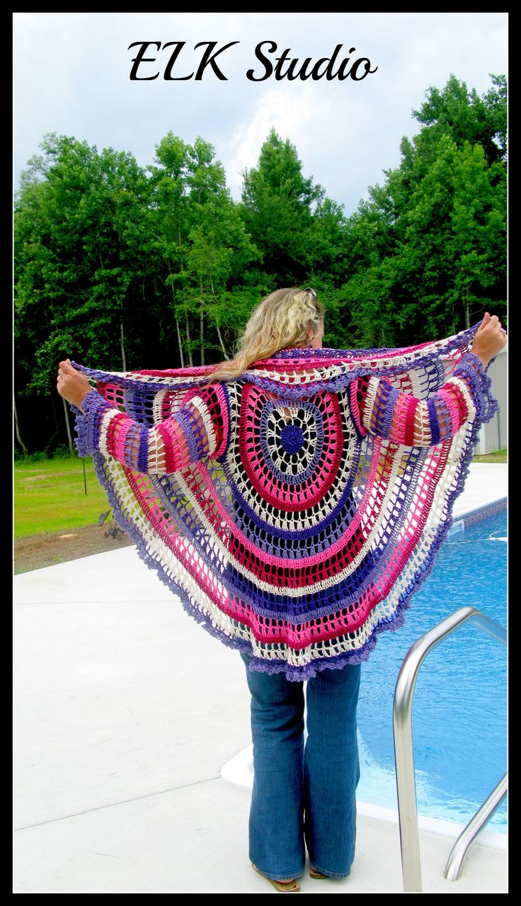 139 best ladies mandala circular sweaters images on pinterest my first crocheted jacket bankloansurffo Image collections