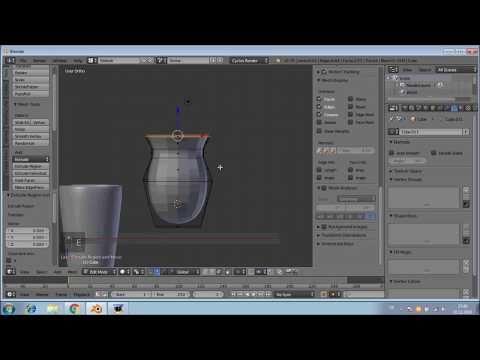 Blender3D 8 SÜRAHİ BARDAK MODELLEME - YouTube