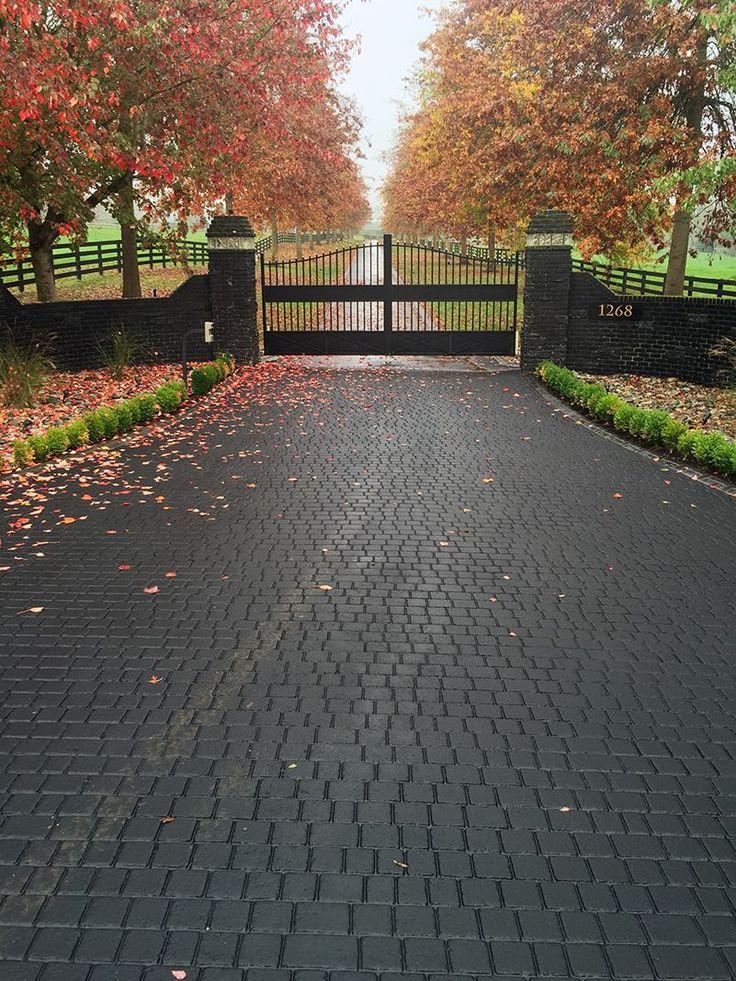 stamped driveway using StreetPrint genuine stamped asphalt