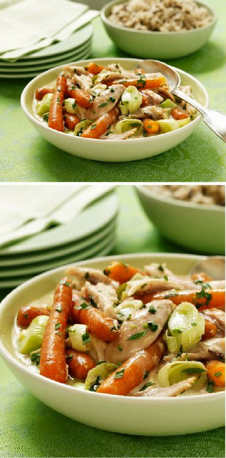 Chicken and Vegetable Stew – This classic comfort food dish is simple to make. And thanks to the addition of cream cheese, this recipe will taste restaurant-worthy.