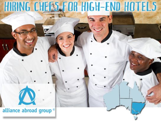 Now Hiring Demi Chefs, Chef de Partie, Commis Chefs, and Line Cooks Alliance Abroad Group - Throughout Australia at luxury resorts, hotels, & restaurants