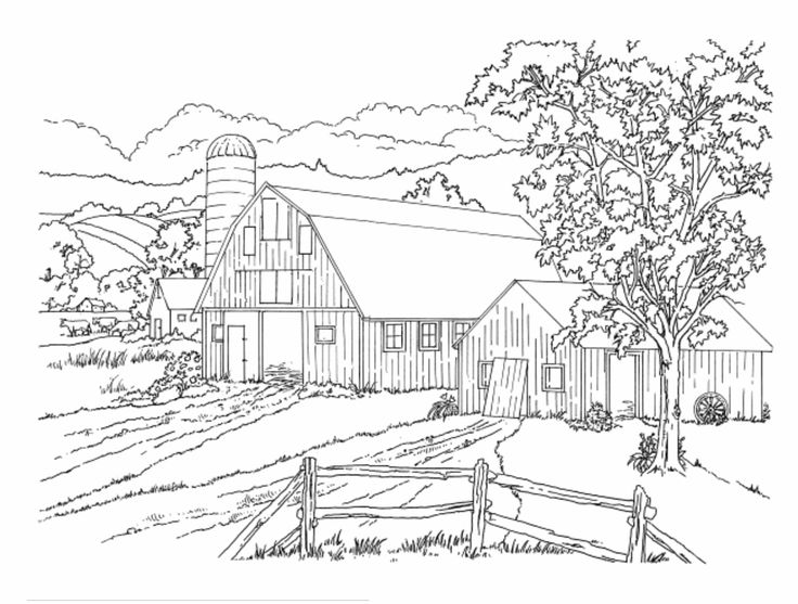 Country Scenery Coloring Pages