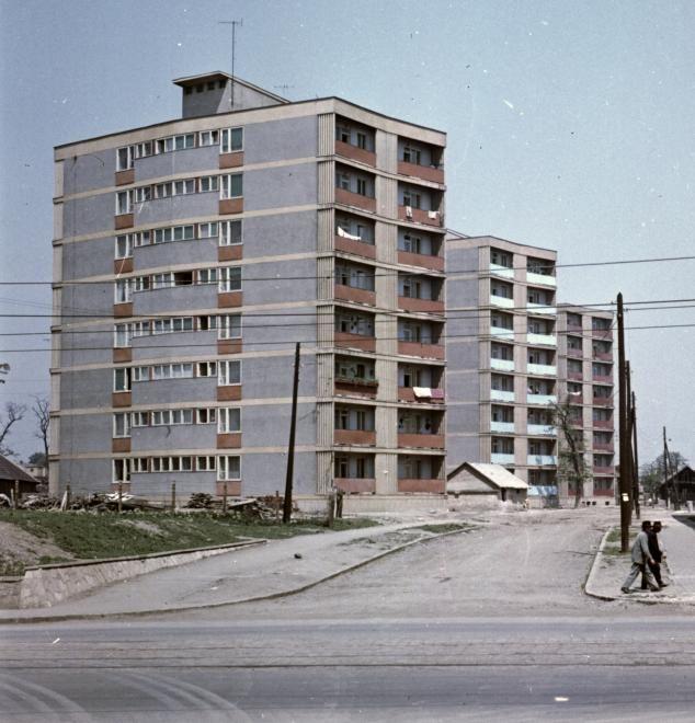 Kőrösi Csoma Sándor utca a Bajcsy Zsilinszky utca felől nézve. 1970