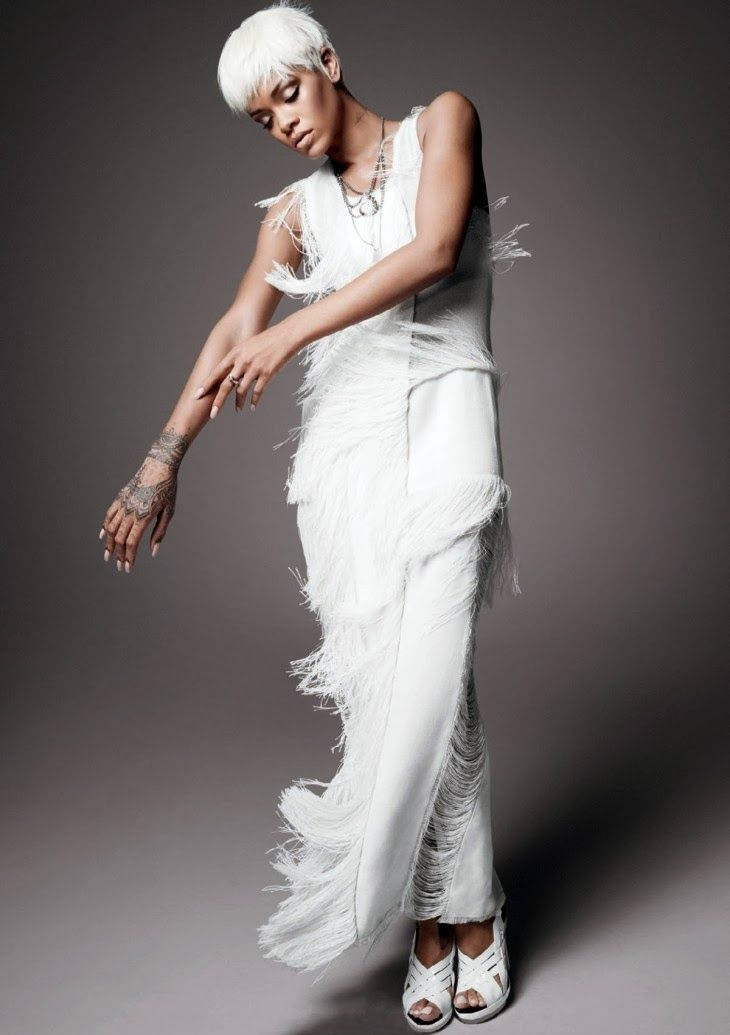 """vogue: """"Rihanna photographed by David Sims, Vogue, March From the Archives:  The best of Francisco Costa's designs for Calvin Klein Collection in Vogue."""