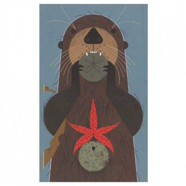 charlie harper otter art posters