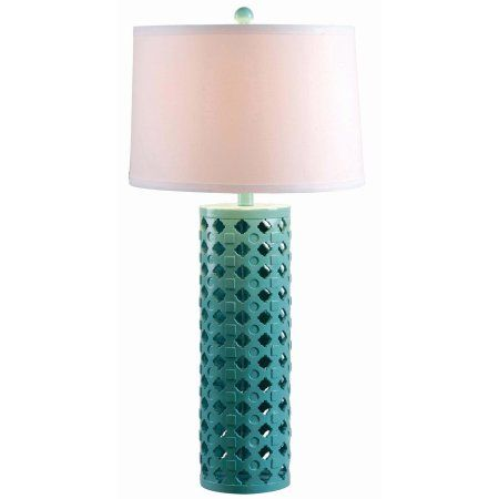Kenroy Home Marrakesh Table Lamp, Teal, Blue