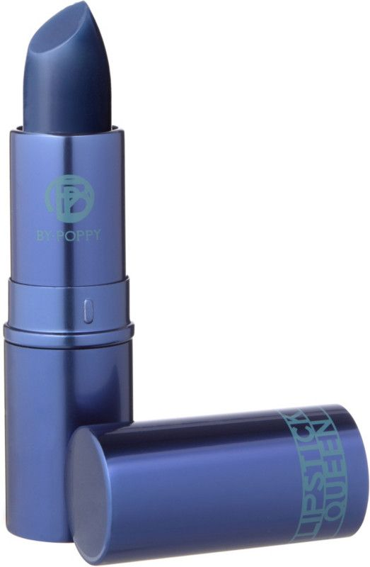 Lipstick Queen Hello Sailor Lipstick, a nautical inspired, ultra-modern, navy blue sheer lipstick with a cool berry tint and hint of deep sapphire. Enriched with vitamin E.