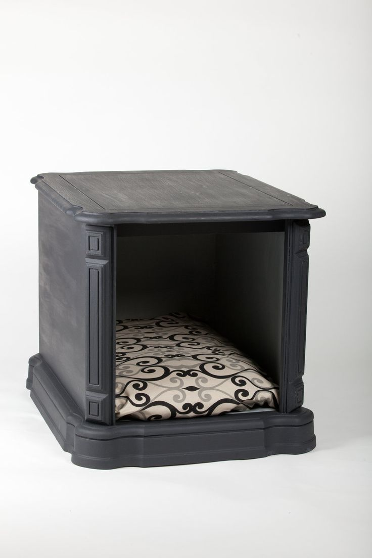 Another doggie bed inspiration piece. Vintage nightstand turned doggie bed. I can use the top as a regular night stand, placing it next to my bed, and turn the interior into my pups new cozy cave. Paint it, add a comfy cushion, and we're set to go. $155.00