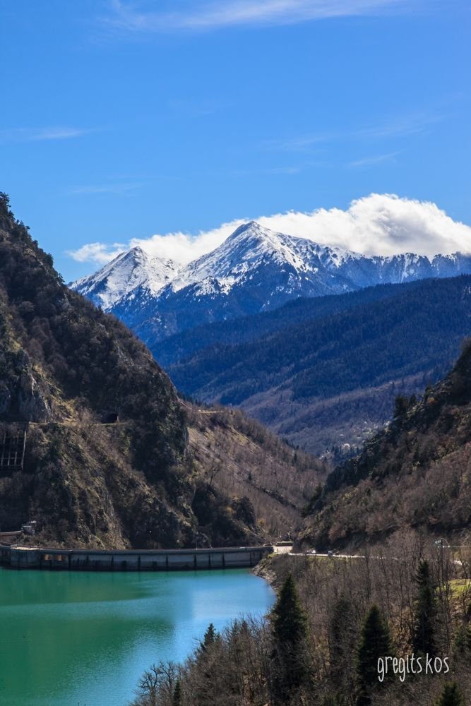 Lake Plastiras dam, Greece