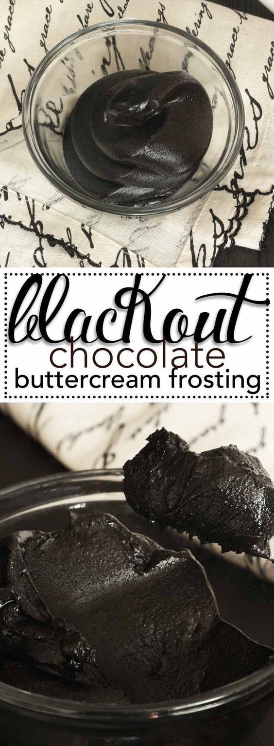 Black Cocoa Buttercream Frosting