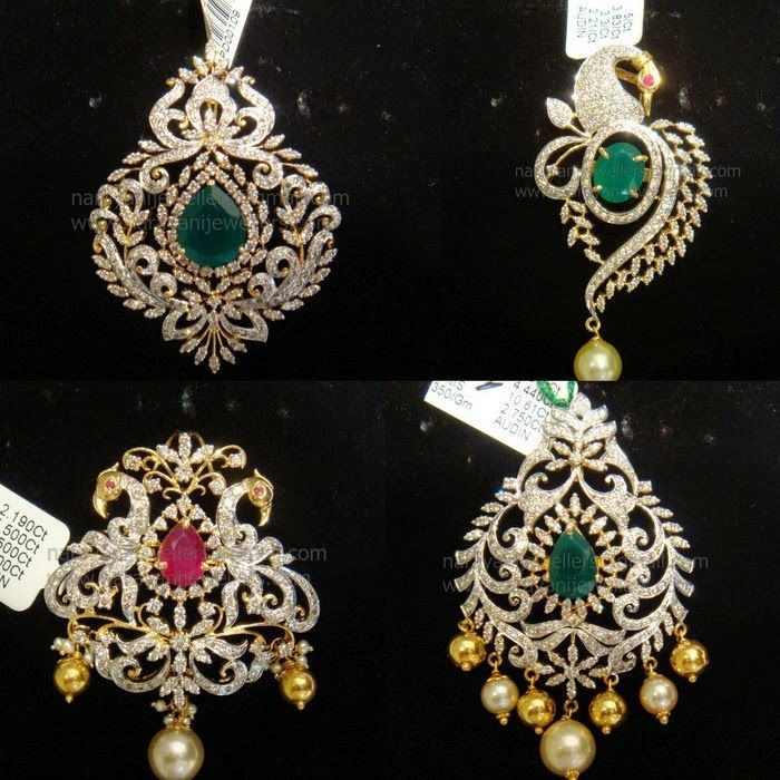 Jewellery Designs: Diamond Pendants by Narayani Jewellers