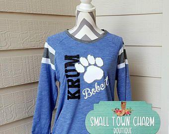 School Spirit Shirt, School Shirt, Teacher Shirt,Game Day Shirt,Small Town Charm Boutique