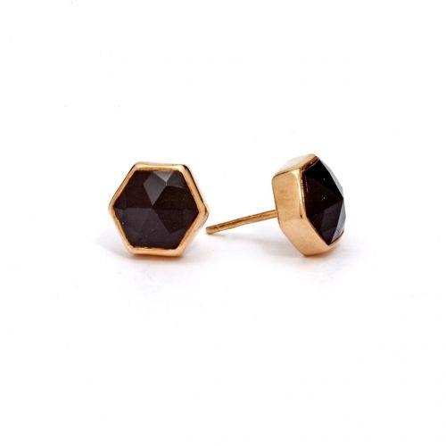 Onyx Studs (SR) Gold