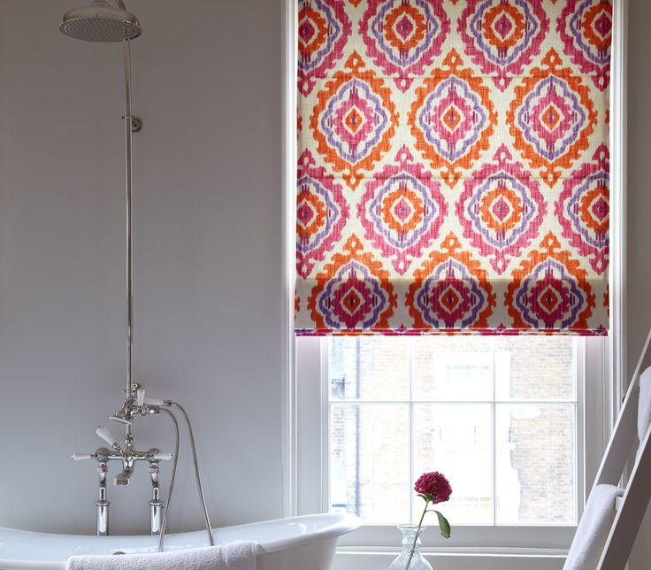Clarke & Clarke Jasmine Roman Blinds - Balinese inspired, multi-purpose printed fabric. This bold and charismatic design is sure to bring a burst of colour to any room. Available in six vibrant colours!