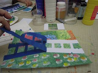 Monet painting activity for kids