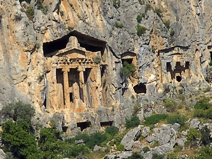 A closer view of an Lycian tomb