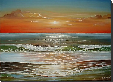 Sunset Beach by Cherie Roe Dirksen --- Prints for sale (click on the picture)