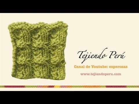Trenza con nudos tejida en dos agujas o palitos - YouTube