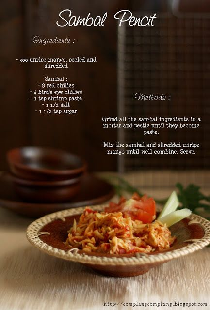 Cooking Chapter: idfb Challenge #4 : Sambal Pencit / Unripe mango sambal