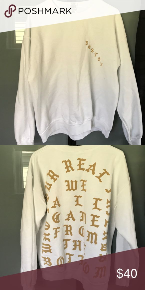 Yeezy Sweatshirt Kanye West Sweatshirt from Boston pop-up store Tops Sweatshirts & Hoodies