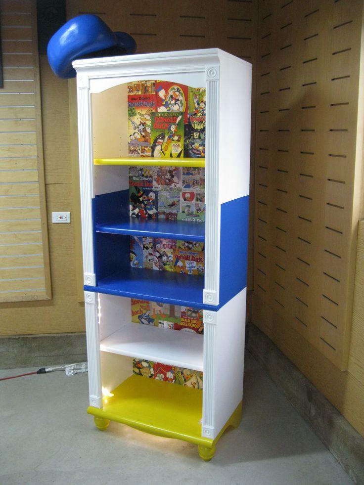 Donald Duck Bookcase / Display Case Furniture Piece