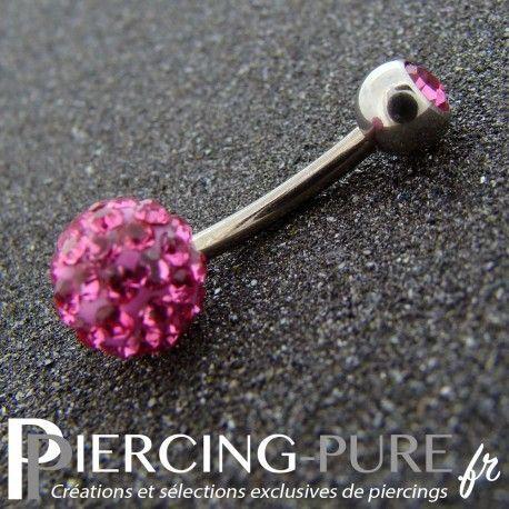 https://piercing-pure.fr/p/270-piercing-nombril-titane-boule-de-cristaux-roses.html #piercing #piercingnombril #piercingrose #navelpiercing #piercingswarovski
