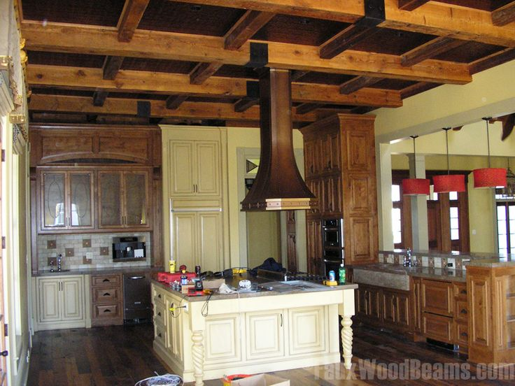 extraordinary design ideas wood ceiling beams. Old barn wood beams form an attractive crisscross pattern for this rustic  yet modern kitchen 25 best Design Ideas Real Wood Box Beams images on Pinterest