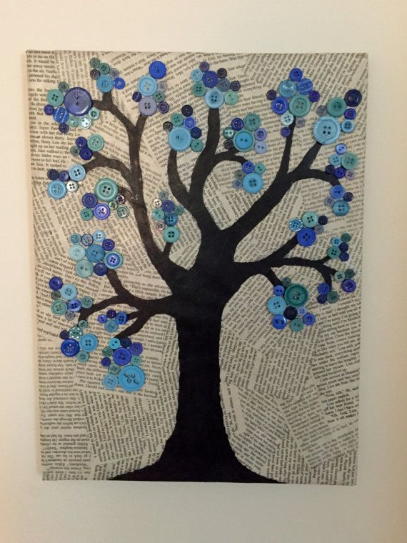 Button Tree Canvas by CrazyAboutCanvases on Etsy                                                                                                                                                                                 More