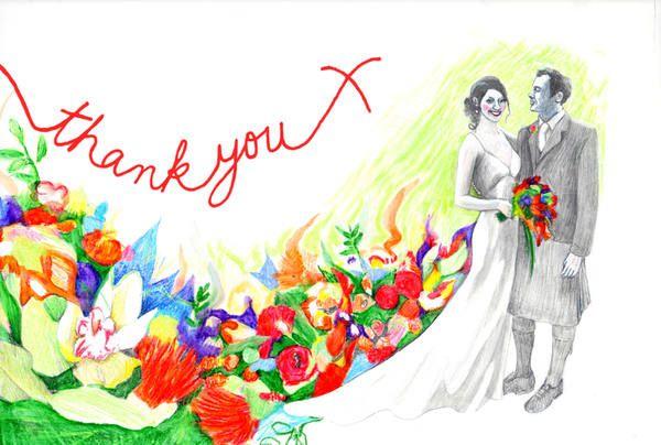 Hand drawn thank you