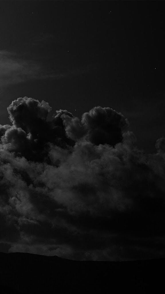 iPhone, Dark, Sky, Clouds, Night, Mysterious, Creepy, Black - Wallpaper