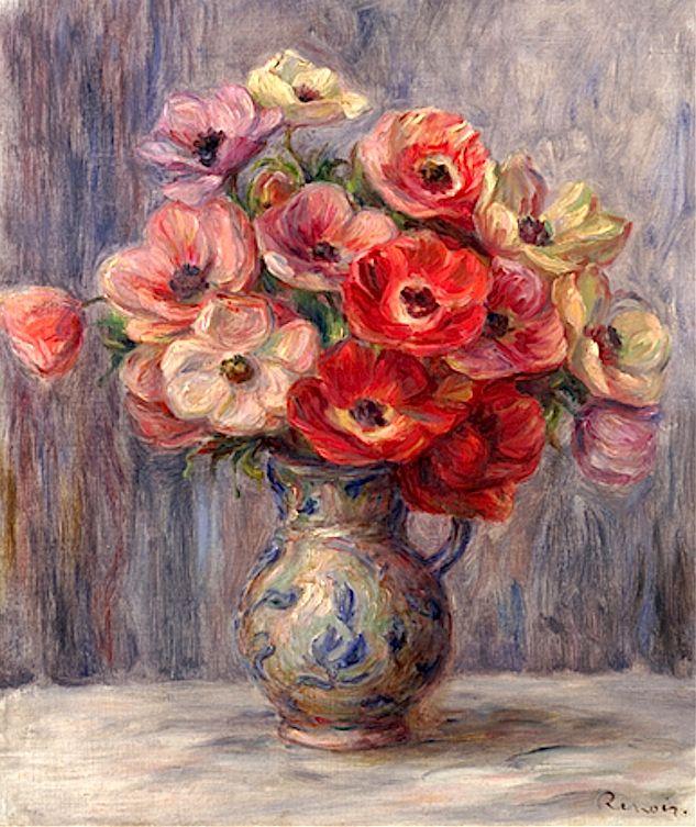 Pierre Auguste Renoir, Anemones, ca. 1883-1890