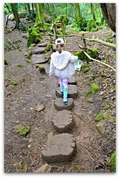 Stepping stones at Puzzlewood - Forest of Dean #Time Traveller