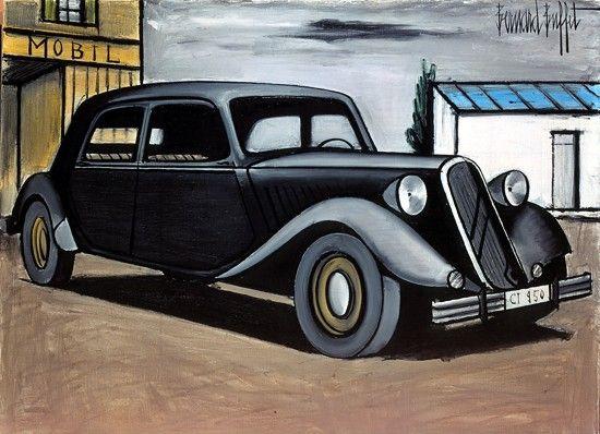 Bernard Buffet - Citroen 15 CV - 1984, oil on canvas - 97 x 130 cm