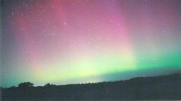 Aurora photographed over west Belconnen