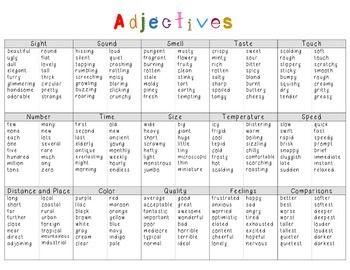 feel adjectives