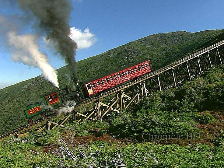Cog Railway, New Hampshire.  I held my breath on this small but steep train…