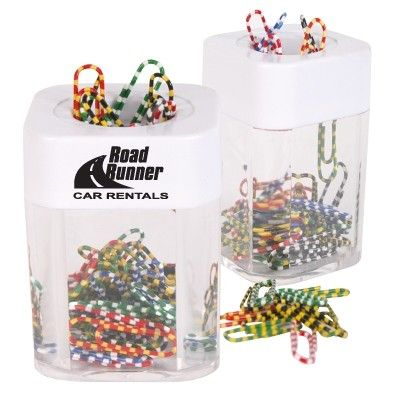 Rectangular Paper Clip Dispenser incl 1 Colour Print Min 250 - Office & Desktop - Paperweights & Clips - GO-9021s - Best Value Promotional items including Promotional Merchandise, Printed T shirts, Promotional Mugs, Promotional Clothing and Corporate Gifts from PROMOSXCHAGE - Melbourne, Sydney, Brisbane - Call 1800 PROMOS (776 667)