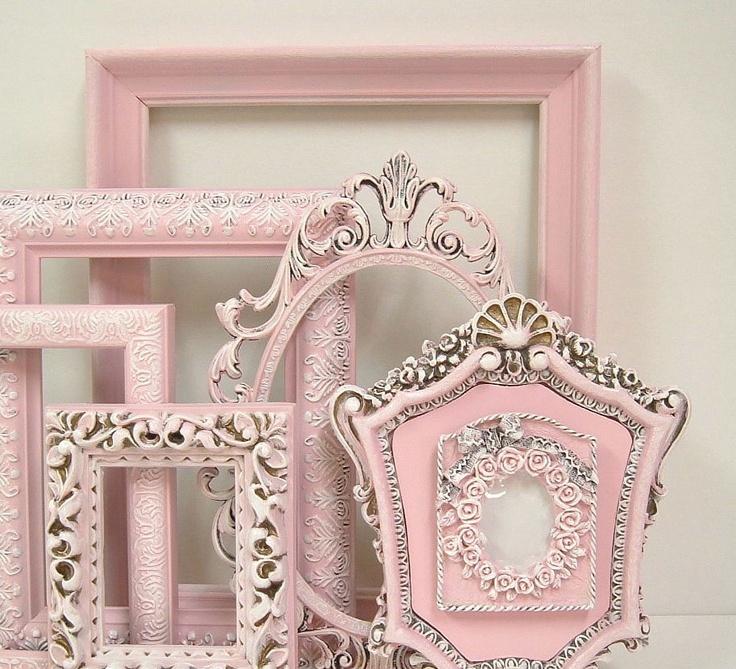 Shabby Chic Frames Fresh Pastel Pink Picture Frame Set Ornate Frames Wedding Home Decor