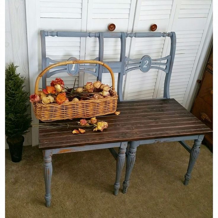 17 Best Images About Repurposed Furniture On Pinterest: 17 Best Ideas About Chair Bench On Pinterest