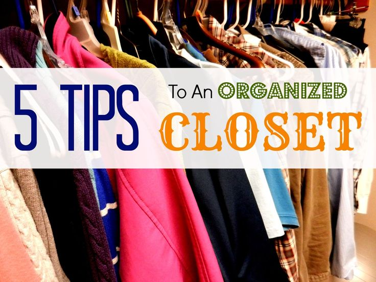 Stressing over the mess? Having an organized closet isn't as hard as you'd think! These five tips make it easy to get the clothes under control.