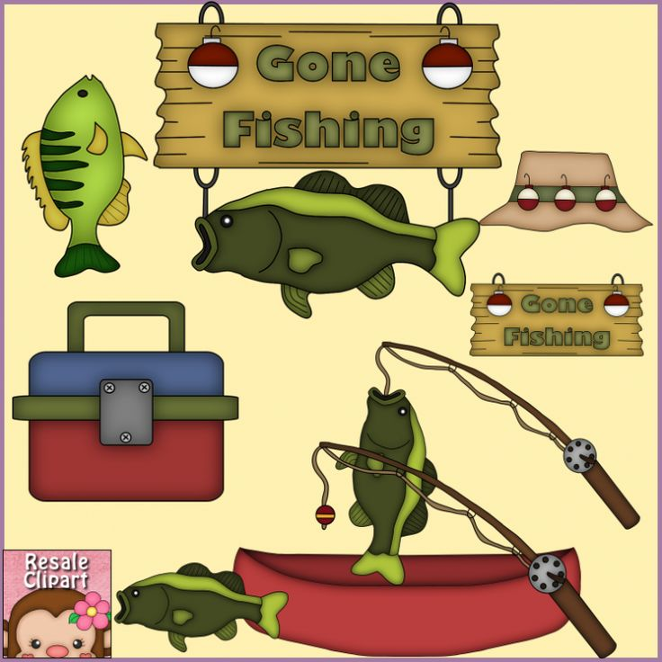 Gone fishing clip art