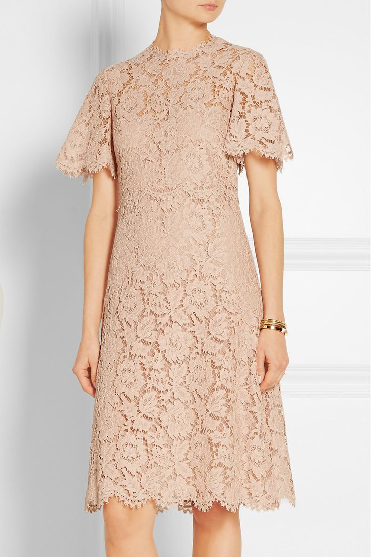 Valentino | Cotton-blend lace dress | NET-A-PORTER.COM