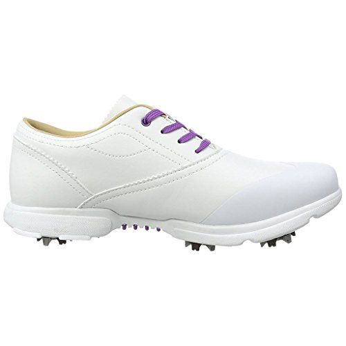 Womens Golf Shoes Fashion | SALE Ladies HiTec DriTec Classic Leather Womens Spikes Golf Shoes  Waterproof WhitePurple 5UK * See this great product. Note:It is Affiliate Link to Amazon.