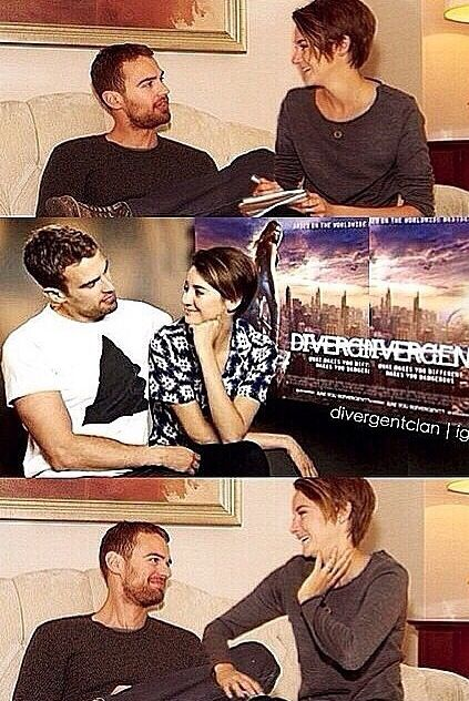 Shailene Woodley and Theo James.